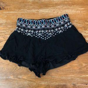 LA Hearts High Waisted Smocked Shorts